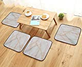 UHOO2018 Universal Chair Cushions Marble Texture Detailed Structure of Marble in naturalfor Background and Design Personalized Durable W15.5 x L15.5/4PCS Set