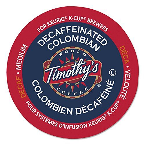 Timothy's World Coffee Decaffeinated Colombian K-Cup for Keurig Brewers, 96