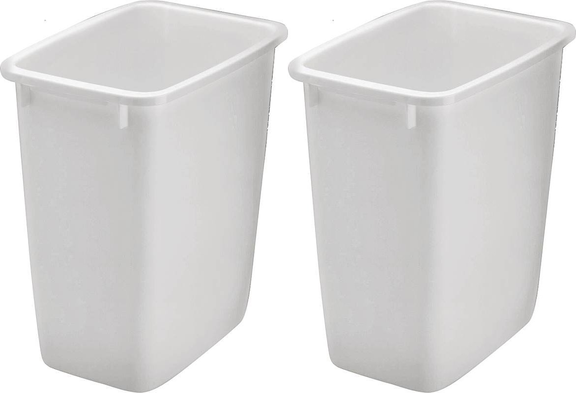 Rubbermaid 2806TP-WHT 36QT Open Wastebasket, White (Pack of 2) by Rubbermaid