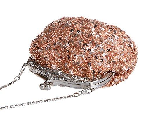 de multicolore elegant Noël mariage Champagne sac soiree Pochette main pour a Cadeau Vintage Femme q8CwId7x7