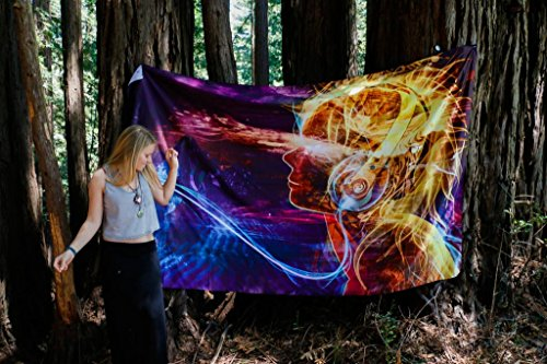 Solar Flare - by Third Eye Tapestries - Wall Tapestry - Wall Hanging - Digital Art Tapestry by Third Eye Tapestries