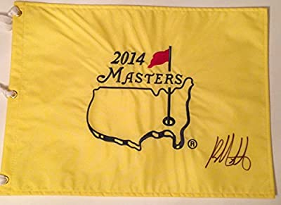 BUBBA WATSON Signed 2014 MASTERS Golf Tournament Pin FLAG Pga