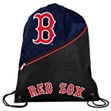 Boston Red Sox Official High End Diagonal Zipper Drawstring Backpack Gym Bag