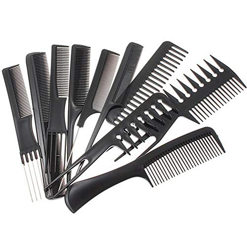 Comb Professional Styling Comb Set Black Salon Hair Styling Hairdressing Barbers Combs Set 10 Piece Create hair styling