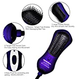 BANGMENG Mini One Step Blow Dryer & Styler Hot Air Paddle Brush With Infrared | Negative Ion Generator Hair Straightener For All Hair Types | Eliminate Frizzing, Tangled Hair & Knots