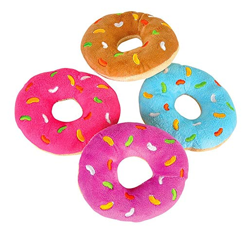 """Bottles N Bags Plush Donuts with Sprinkles Value Pack   Fun Birthday Party Favors   5"""" Donut Toys in Assorted Colors (12 Pack)"""