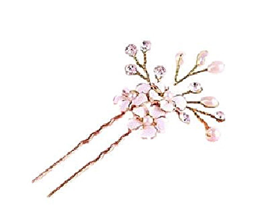 Fashion Jewery Damen Haarschmuck Accessoires Haarblumen Haargesteck Haarnadeln Perlen Hochzeit Strass Tiara Diadem Blumen Blüte in Gold Braut Haarschmuck Neuheit KO-0988
