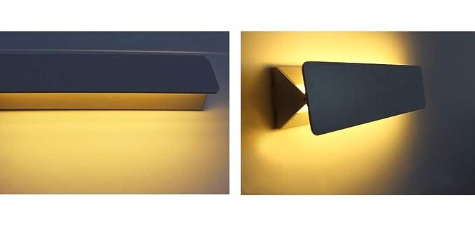 Applique led lampada da parete orientabile 7w luce calda naturale