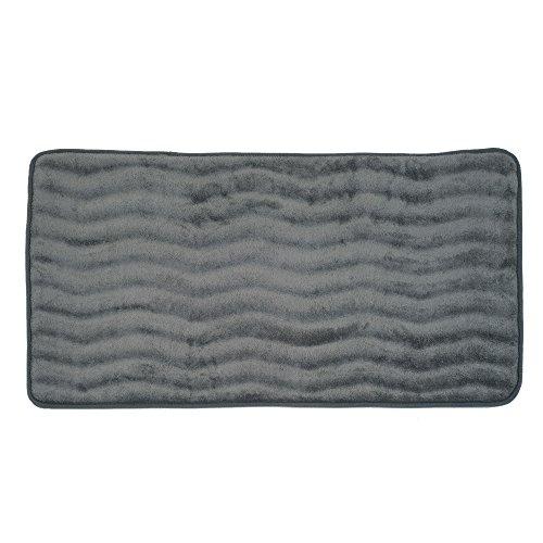 Bedford Home Memory Foam 24 by 60-Inch Bath Mat, Platinum, X