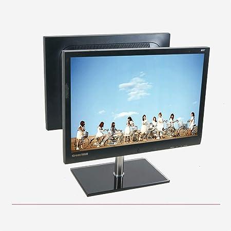 GOYOO Soporte TV Montaje Inclinación Giratoria Doble Pantalla, Universal Soporte para TV para Pantallas LED, LCD, Plasma de 14-27 Pulgadas, Máx VESA 100x100mm: Amazon.es: Hogar
