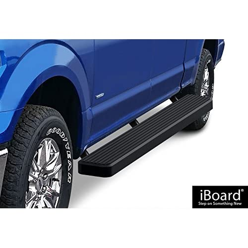 "Discount APS Premium 6"" Black iBoard Running Boards Fit 15-18 Ford F150 SuperCrew Cab / 17-18 F250 for sale"