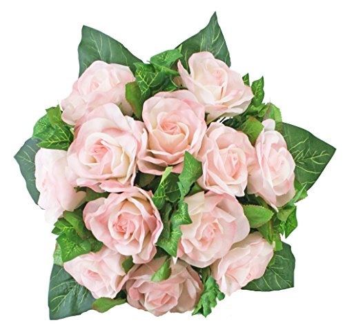 Pink Silk Rose Nosegay - Bridal Wedding Bouquet