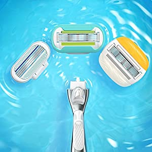 Gillette Venus Platinum Extra Smooth Metal Handle Women's Razor – 1 Handle + 4 Refills