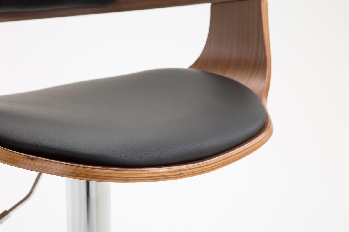 Clp sgabello design bogota in legno e similpelle sedia sgabello