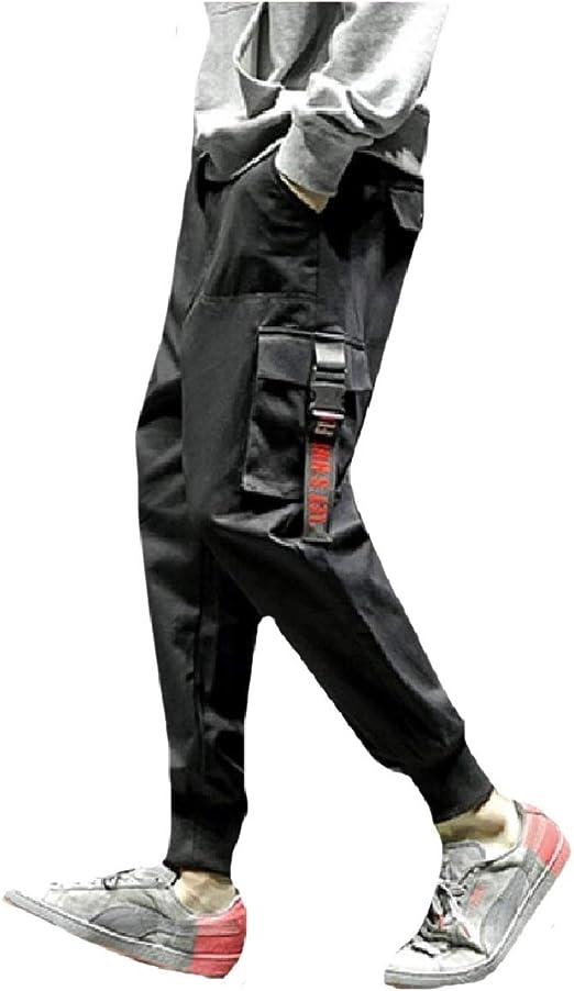 cheelot Men Harem Elastic Drawstring Relaxed Fit Airsoft Cargo Pants