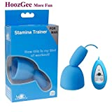Xuro-AV APHRODISIA Sex Toy for Men 10 Speed Stamina Trainer Medical Silicone Glans Vibrators Now This Is My King of Workout (Blue)