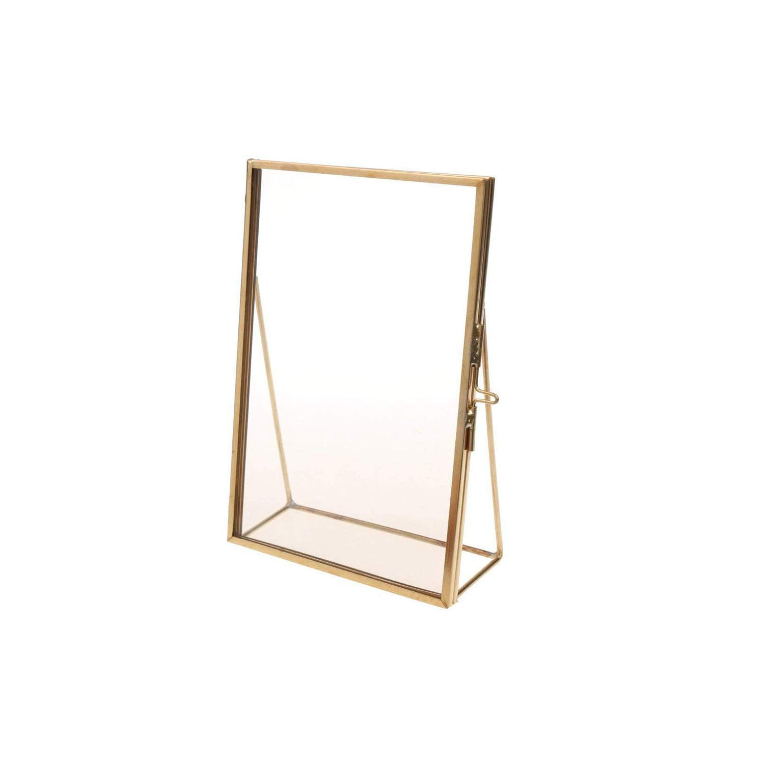 . Amazon com   Photo Frame Antique Brass Glass Picture Photo Frame
