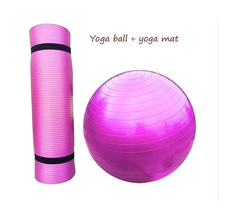 LIUXIN Yoga Ball + Yoga Mat, niño Adulto Gym Ball ...