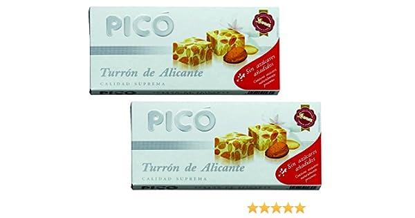 Picó - Pack incluye 2 Turron Imperial - Turrón duro de Almendras sin azúcares añadidos - Calidad suprema - 200 gr: Amazon.es: Alimentación y bebidas