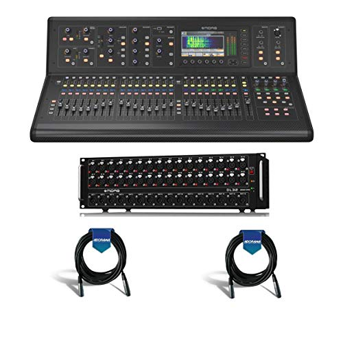 Midas M32 LIVE Digital Console for Live and Studio with 40 Input Channels - Bundle With Midas DL32 32-Input / 16-Output Stage Box with 32 Midas Mic Preamps - 2 Pack 20' XLR Microphone Cable