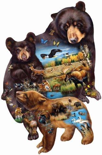 1000 Piece Shaped Jigsaw Puzzle - SunsOut Bear Family Adventure 1000 pc Jigsaw Puzzle