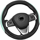 Elantrip Reversible Leather Steering Wheel Cover 14 1/2 to 15 inch Universal Anti Slip for Car Truck Mint