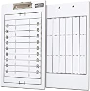 Murray Sporting Goods Dry-Erase Double Sided Football Coaches Clipboard