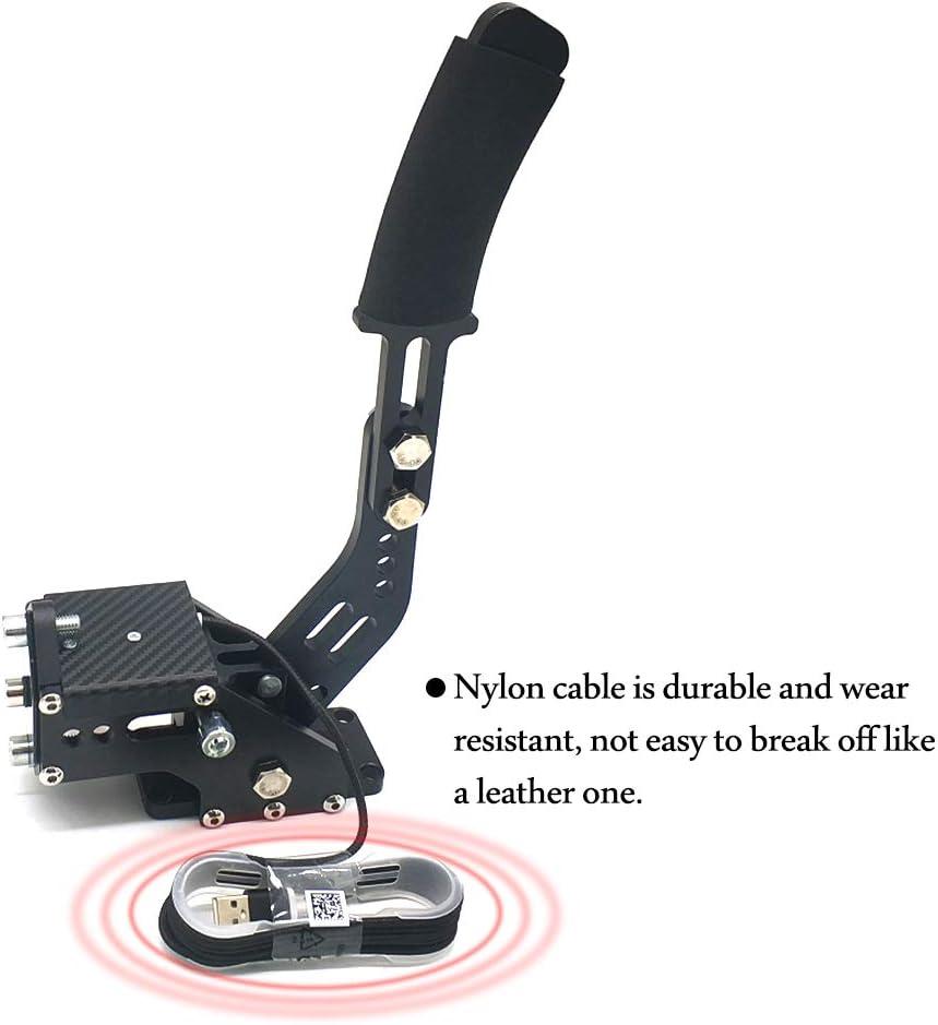 14Bit Pc USB Handbrake Simulate Linear Handbrake for Racing Games for Logitech G27 G29-Red Baugger Handbrake