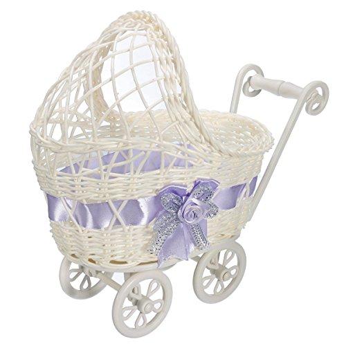 katoot @ Almacenamiento Cesta de mimbre Baby Stroller 25x 11x 23cm universal para carriola de bebé ducha presente...