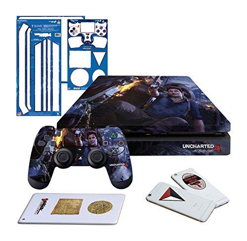 Mando de consola PS4 Pro con licencia oficial de Controller Gear - Naranja Poly Horizontal - PlayStation 4