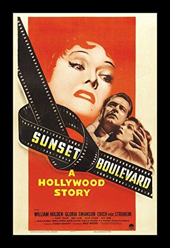 Wallspace Sunset Boulevard - 11x17 Framed Movie - Boulevard Framed