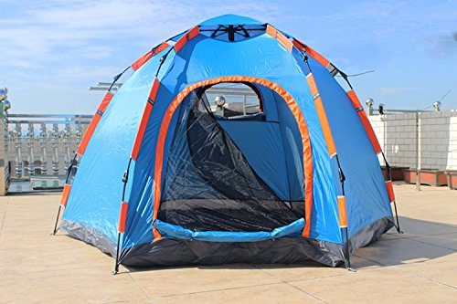 Wnnideo Instant Family 2-3 Person Tent Automatic Pop Up Tents Waterproof for Outdoor Sports C&ing Hiking Travel Beach & Wnnideo Instant Family 2-3 Person Tent Automatic Pop Up Tents ...