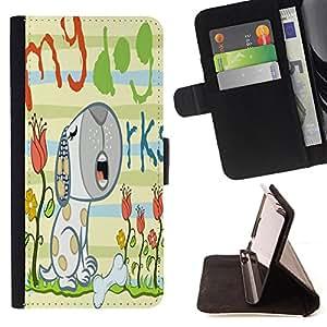 Jordan Colourful Shop - FOR Apple Iphone 5C - My lovely dog - Leather Case Absorci¨®n cubierta de la caja de alto impacto