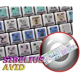 SIBELIUS GALAXY SERIES KEYBOARD LABELS 12x12 SIZE by 4Keyboard