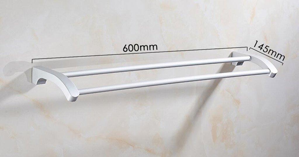 Bad Handtuchhalter Aluminium Doppel-Pol Doppel-Bad Handtuchhalter ...