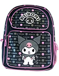 Sanrio Kuromi Black and Pink Large 16 Backpack Officially Licensed Hello Kit...