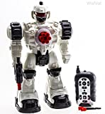 WolVol 10 Channel Remote Control Robot Police Toy with Flashing Lights and Sounds, Great Action Toy...