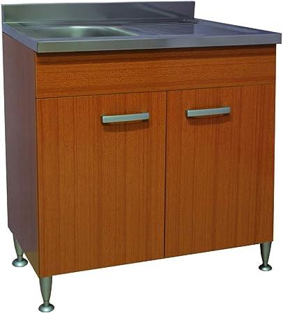 Mobile Cucina 2 Ante Completo Di Lavello Inox 80 2 Vasche Componibile Sottolavello Ifgf Org Au