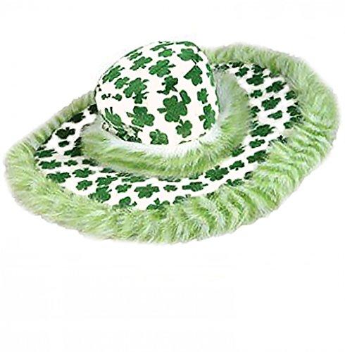 [Shamrock Show Daddy Hat - St. Patrick's Day Pimp Hat] (Styles Pimp Costumes Hat)