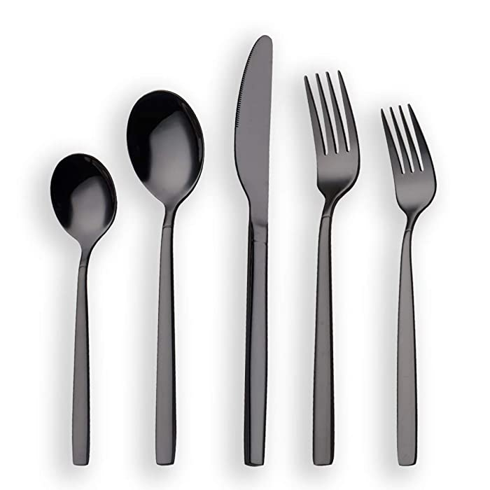 Top 10 Black Silverware Set Dishwasher Safe