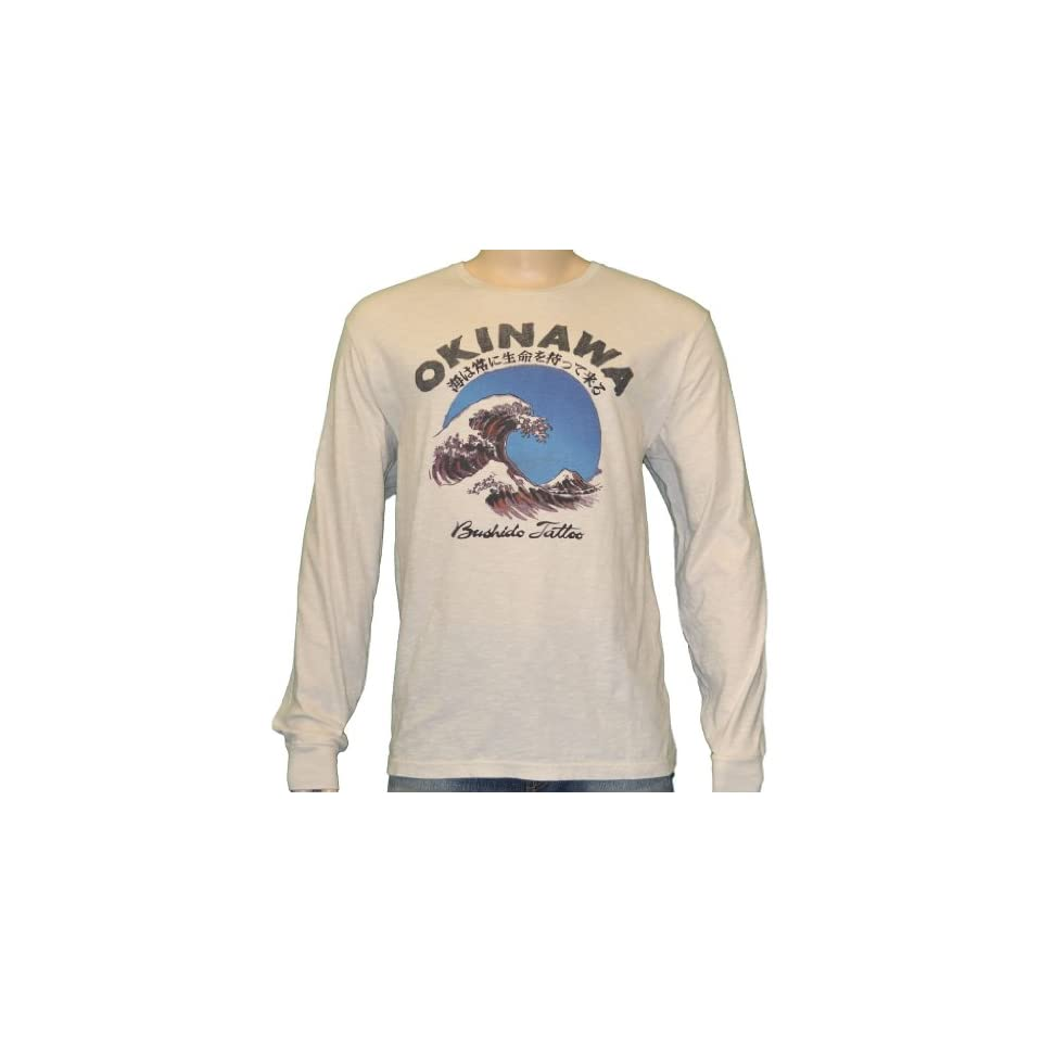 Lucky Brand Jeans Okinawa Tattoo Long Sleeve Shirt XL at  Men's Clothing store