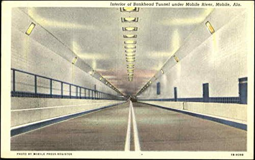 Interior Of Bankhead Tunnel Under Mobile River Mobile, Alabama Original Vintage Postcard (Bankhead Tunnel Mobile)
