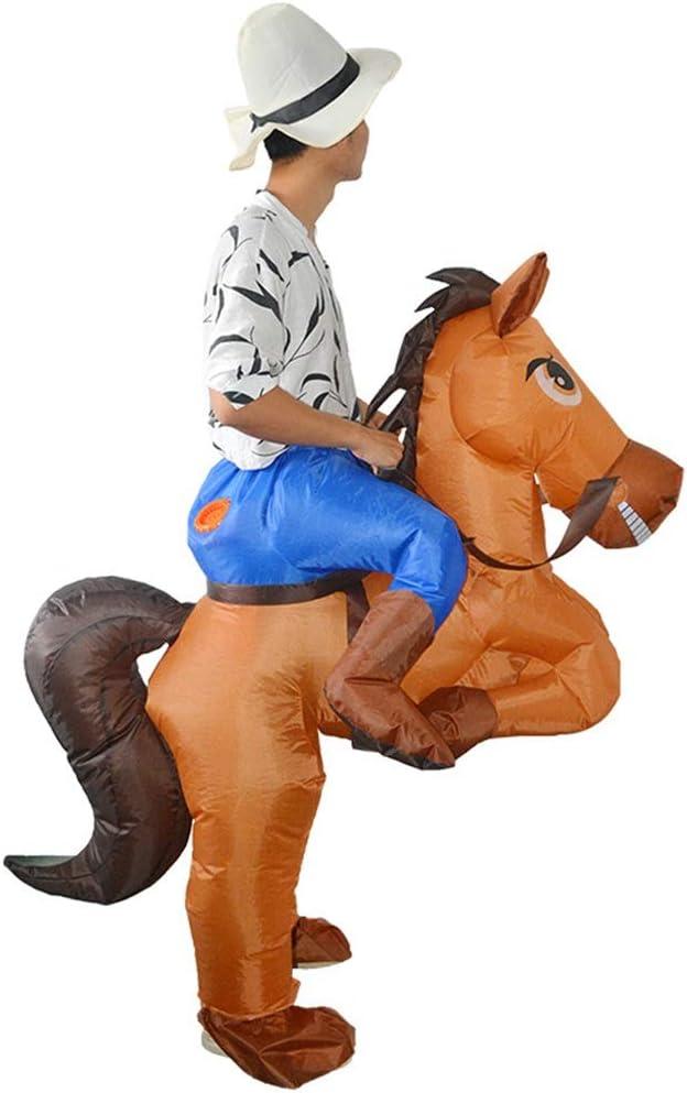 Disfraz de disfraces inflables Disfraz de caballo y vaquero ...