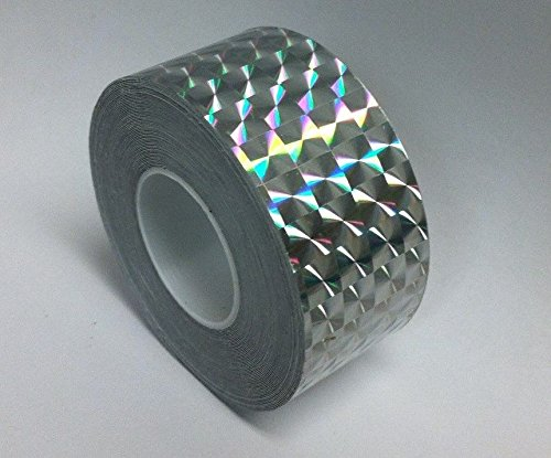 Roll of Prism Tape, Holographic 1/4'' Mosaic (2 inch x 25 ft, silver)
