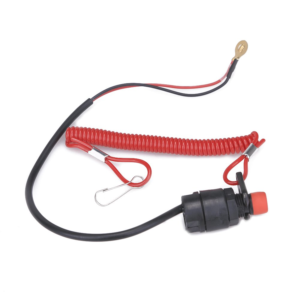 Cisno Outboard Engine Motor Kill Switch Safety Tether Wiring Loom Harness Pit Bike 50cc 110cc 120cc 125cc Universal Part Lanyard For Quad Dirt Atv Automotive