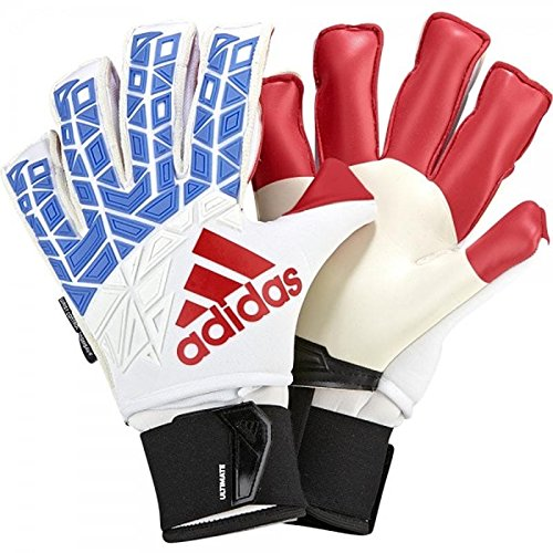 Adidas Fingersave Ultimate Glove - Adidas Ace Trans Ultimate Fingersave Goalkeeper Gloves White/Blue/Red - 7