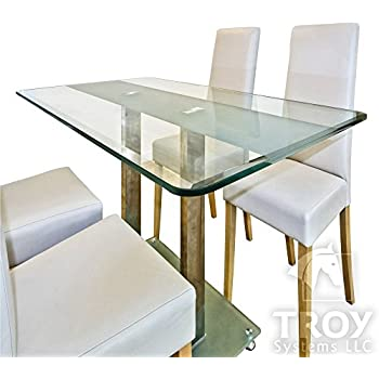 Amazon Rectangle Glass Table Top 3 8 Inch Thick Bevel