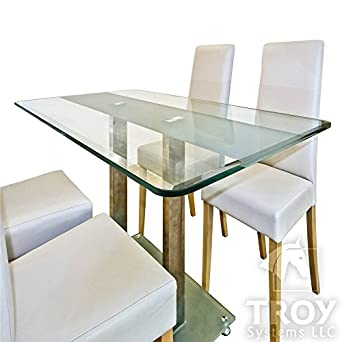 rectangle glass table top Amazon.com: Rectangle Glass Table Top, 3/8 Inch Thick, Bevel  rectangle glass table top