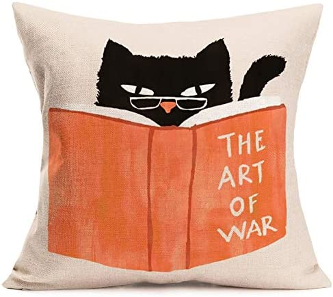 Cat Pillow Cover Cushion Case Animal Printing Home Couch Decorative Lazy Persian