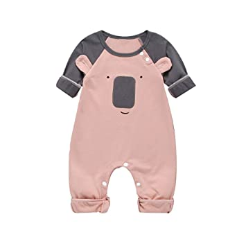 Newborn Infant Baby Girl Kid Long Sleeve Romper Bodysuit Jumpsuit Outfit Clothes